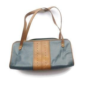 Banana Republic Leather Trimmed Barrel Bag